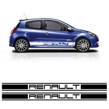 Renault car side racing Decals set