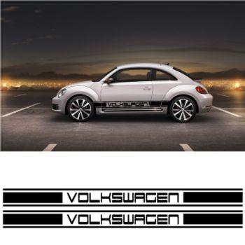 Kit Stickers Bande Seitenleiste Volkswagen Racing
