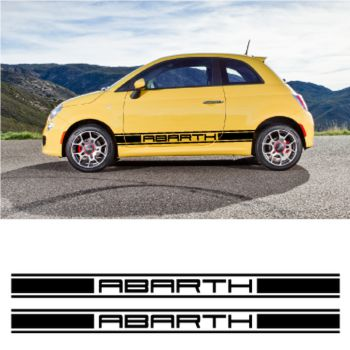 Abarth car side racing Decals set