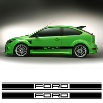 Kit Stickers Bande Seitenleiste Ford Racing
