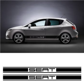 Seat car side racing Decals set