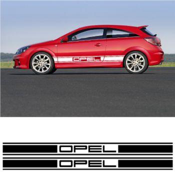 Opel car side racing Decals set