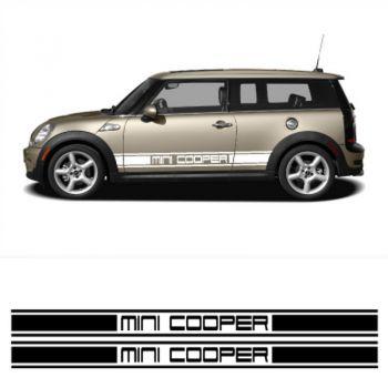 Kit Stickers Auto Bandes Bas de Caisse Mini Cooper Racing