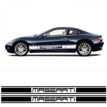 Kit Stickers Auto Bandes Bas de Caisse Maserati Racing