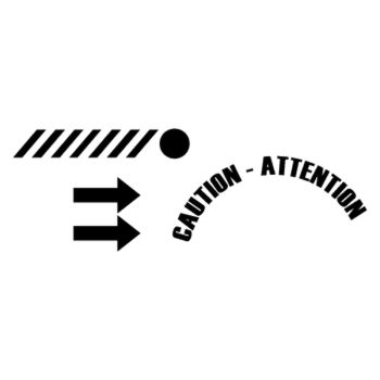 Sticker Citroën DS3 Racing Caution-Attention Trappe Essence