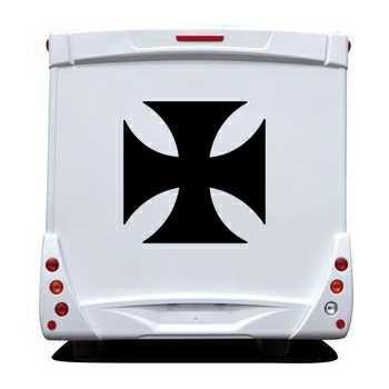 Sticker Camping Car Croix de Malte