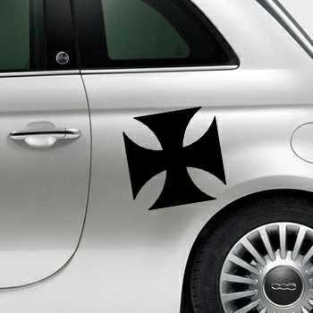 Sticker Fiat 500 Croix de Malte