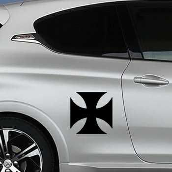 Sticker Peugeot Croix de Malte