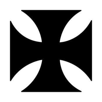 Sticker Croix de Malte