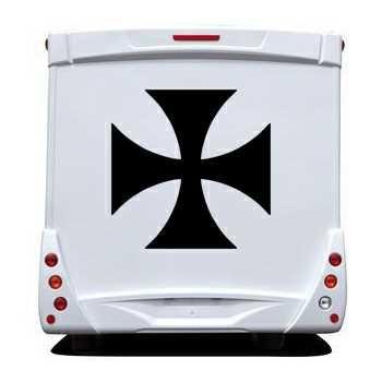 Sticker Camping Car Croix de Malte 2