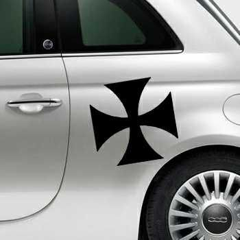 Sticker Fiat 500 Croix de Malte 2