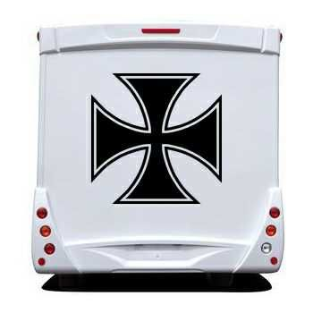 Maltese Cross Camping Car Decal