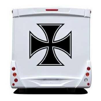 Sticker Camping Car Croix de Malte 3