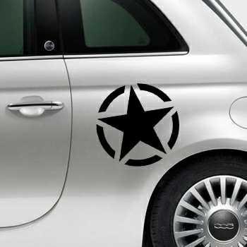US ARMY STAR Fiat 500 Decal