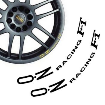 Kit de 2 Stickers Jantes OZ Racing F-1