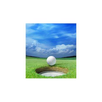 Sticker Déco Balle de Golf Devant Trou