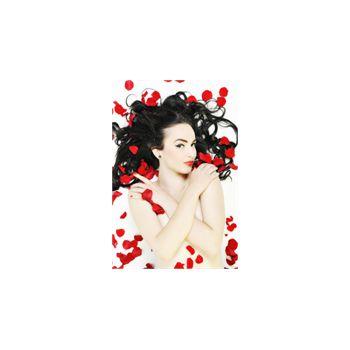 Sticker Déco Belle Femme avec des Roses