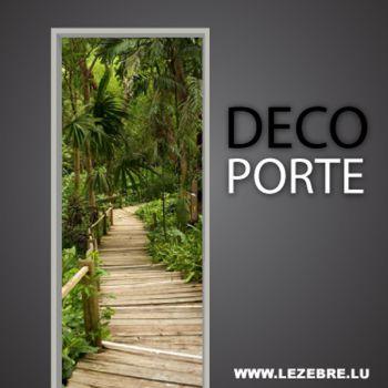 Enter in the jungle door decal