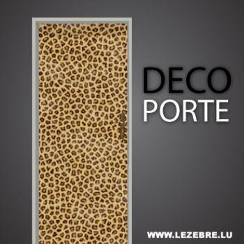 Leopard skin pattern door decal