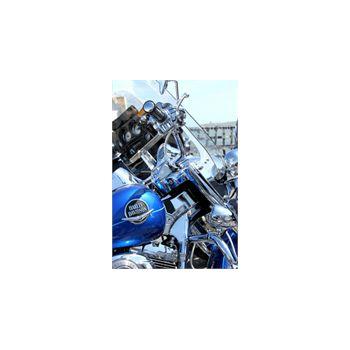 Sticker Deko Harley Davidson Bleu