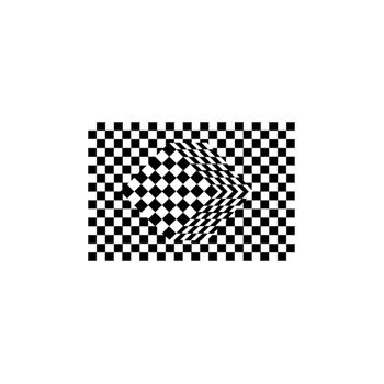 Sticker Déco Illusion Optique Cubes