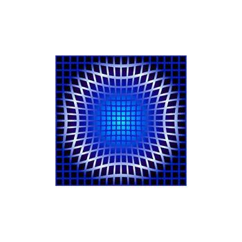 Sticker Déco Illusion Optique Bleu
