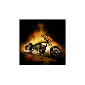 Sticker Deko Moto Flammen de fumée
