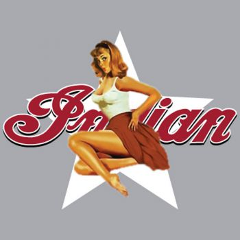 Indian Motorcycle Pin Up Decal