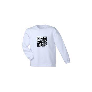 Sweat-Shirt QR Code Hyperlien à Personnaliser