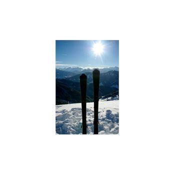 Sticker Déco Skier en Montagne