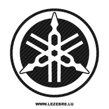 Sticker Karbon Yamaha nouveau logo 2