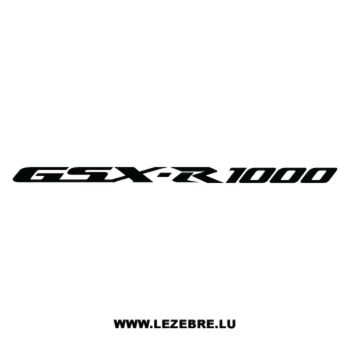 Sticker Suzuki GSX R 1000