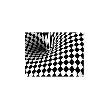 Sticker Deko Vortex Schwarzweiß
