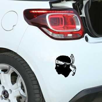 Sticker Citroën Tête de Maure Corse Corsica