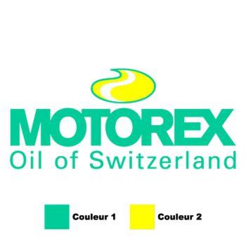 Sticker Motorex Oil of Switzerland Logo 2 Couleurs à Personnaliser