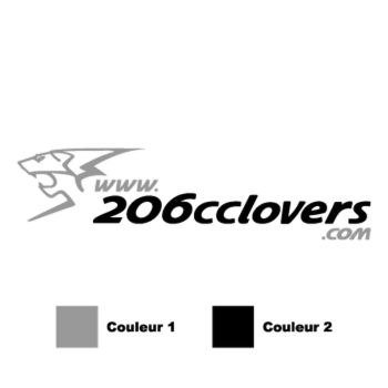 206 cc Lovers, 2 colors logo model Decal