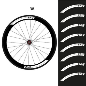 Set of 8 ERG Bike wheels decals 38mm