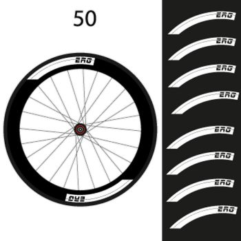 Kit de 8 Stickers jantes ERG Bike 50mm