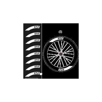 Set of 8 ERG Bike wheels decals 60mm