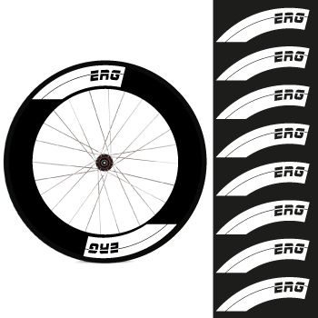 Kit de 8 stickers jantes ERG Bike 88mm