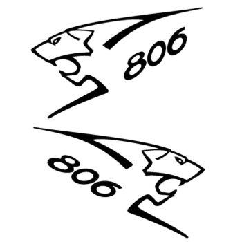 Kit stickers (2 x) Peugeot 806 Lion Sport