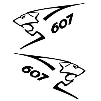Kit stickers (2 x) Peugeot 607 Lion Sport
