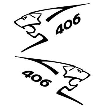 Kit stickers (2 x) Peugeot 406 Lion Sport
