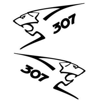 Kit stickers (2 x) Peugeot 307 Lion Sport