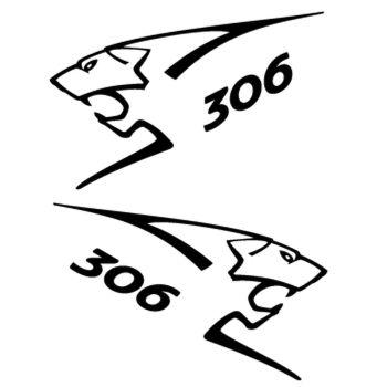 Kit stickers (2 x) Peugeot 306 Lion Sport
