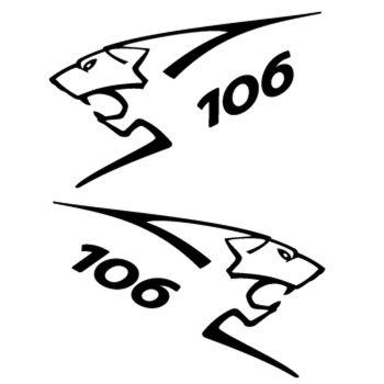 Kit stickers (2 x) Peugeot 106 Lion Sport