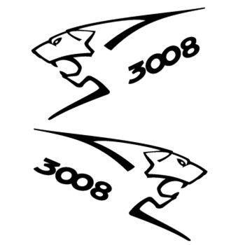 Kit stickers (2 x) Peugeot 3008 Lion Sport
