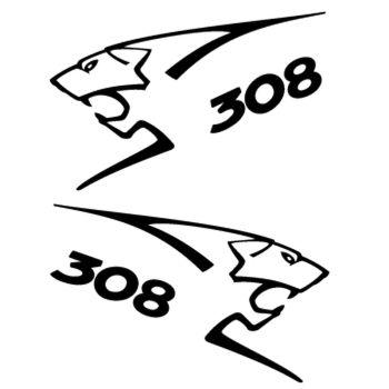 Kit stickers (2 x) Peugeot 308 Lion Sport