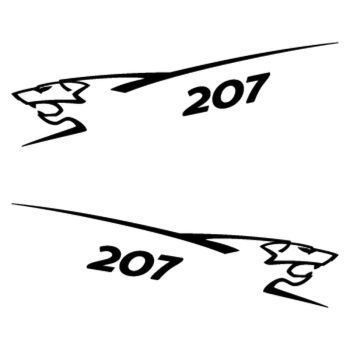 Kit stickers (2 x) Peugeot 207 Lion