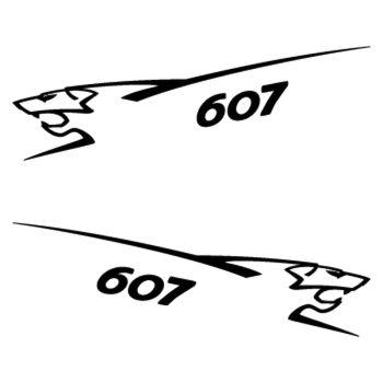Kit stickers (2 x) Peugeot 607 Lion